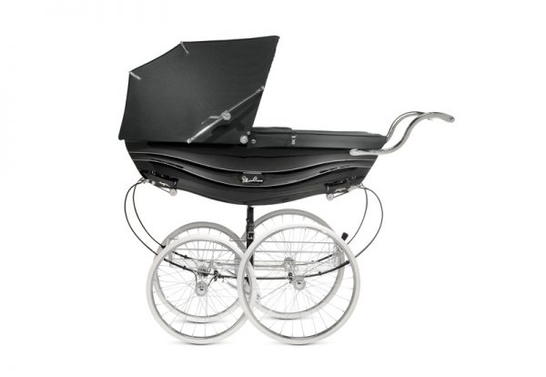 silver cross BALMORAL PRAM SIDE BLACK