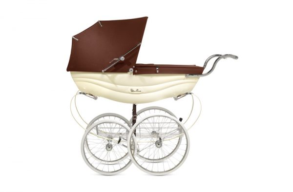 silver cross BALMORAL PRAM SIDE CREAM AND BROWN