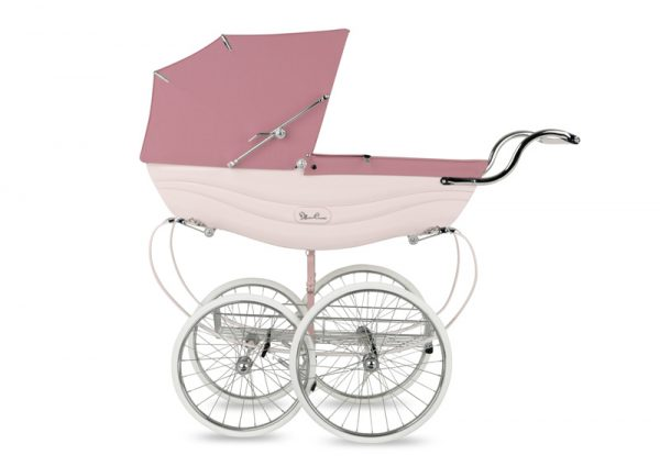 silver cross BALMORAL SOFT PINK SIDE