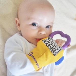 Gummee Glove Teething Glove - Yellow 2