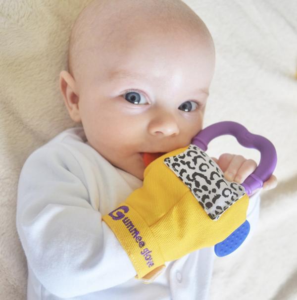 Gummee Glove Teething Glove - Yellow 1