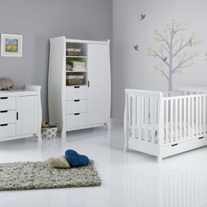 Obaby Stamford Mini 3 Piece Room Set White