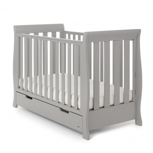 Obaby Stamford Mini Cot Bed - Warm Grey 4