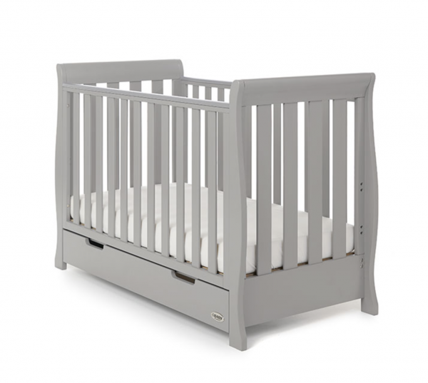 Obaby Stamford Mini Cot Bed - Warm Grey 1