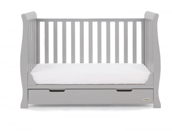 Obaby Stamford Mini Cot Bed - Warm Grey 2