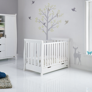 Obaby Stamford Mini Cot Bed White
