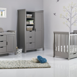 Obaby Stamford Mini 3 Piece Room Set - Taupe Grey 6