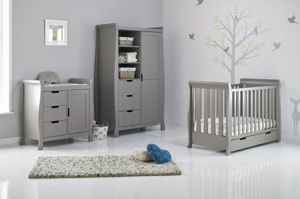 Obaby Stamford Mini 3 Piece Room Set - Taupe Grey 1