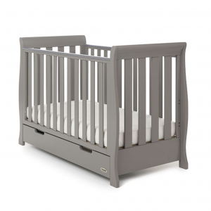 Obaby Stamford Mini Cot Bed Taupe Grey 5