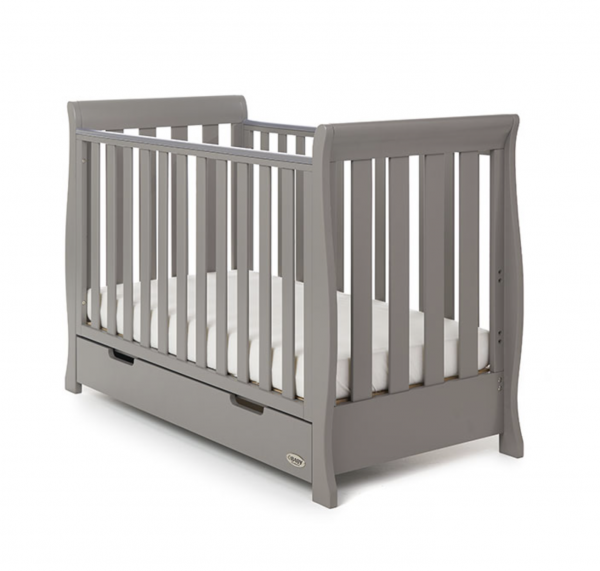 Obaby Stamford Mini Cot Bed Taupe Grey 1