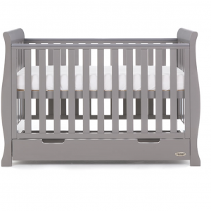 Obaby Stamford Mini Cot Bed Taupe Grey 6