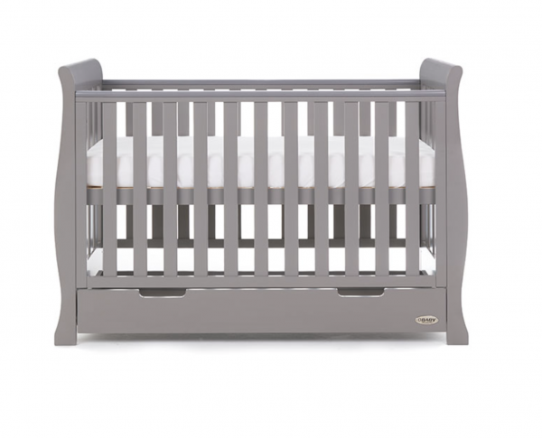 Obaby Stamford Mini Cot Bed Taupe Grey 2