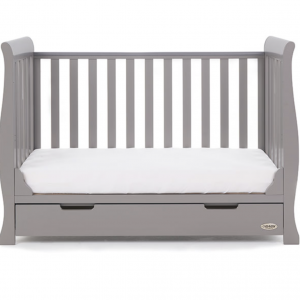 Obaby Stamford Mini Cot Bed Taupe Grey 7