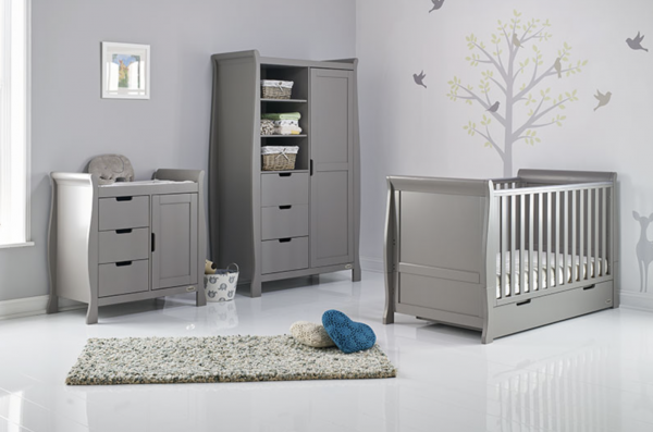 Obaby Stamford Classic Three Piece Room Set Taupe Grey