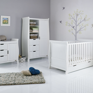 Obaby Stamford Classic Three Piece Room Set White
