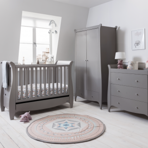 Tutti Bambini Roma Space Saver Three Piece Room Set Truffle Grey