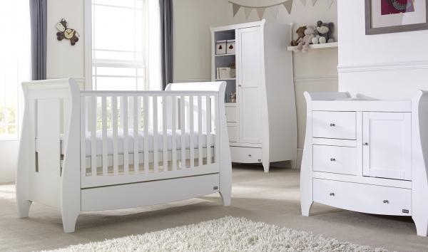 Tutti Bambini Lucas Three Piece Room Set White