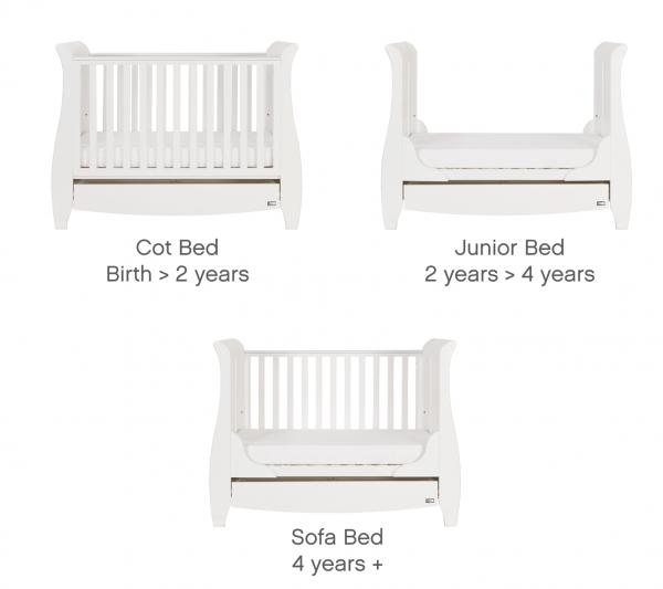 Tutti Bambini Katie Three Piece Room Set White
