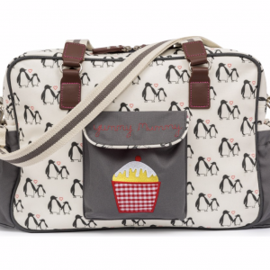 Pink Lining Penguins Changing Bag