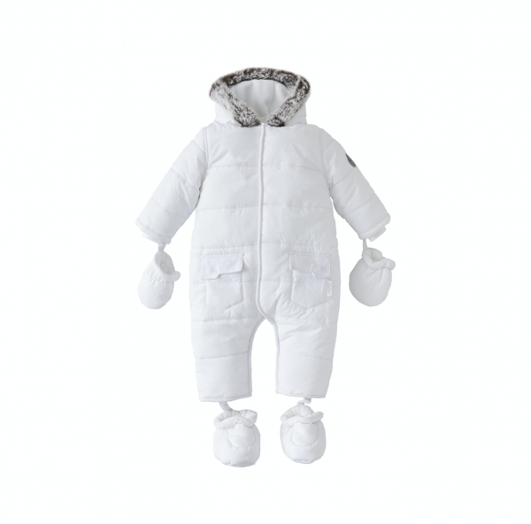 Silver Cross Quilted Pram Suit White