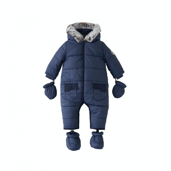 Silver Cross Quilted Pram Suit Navy