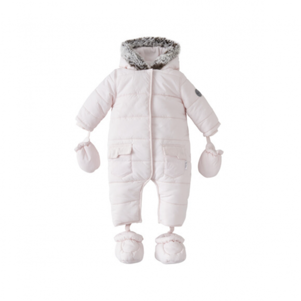 Silver Cross Quilted Pram Suit Pink