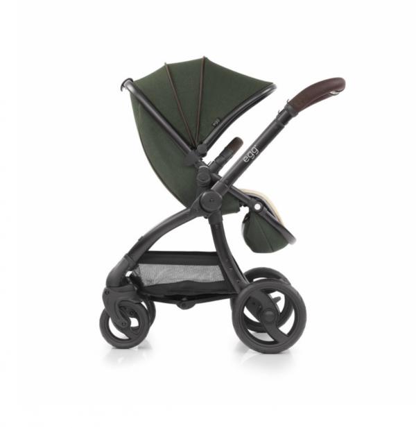 egg stroller country green