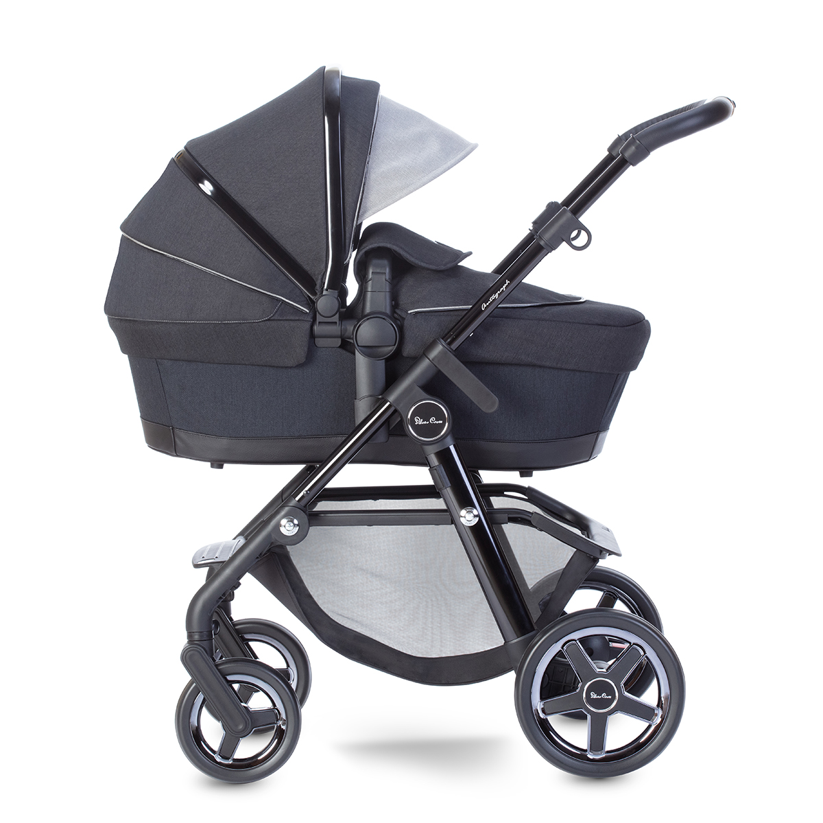 For-Your-Little-One Fur Hood Trim Pram Compatible on Silver Cross Black