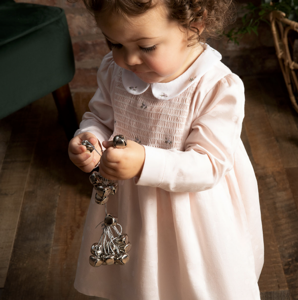 Silver Cross Embroidered Smock Dress 1