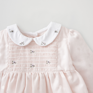 Silver Cross Embroidered Smock Dress 5