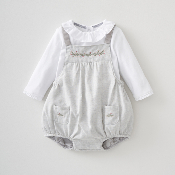 Silver Cross Bloomer & Dungaree Set 1