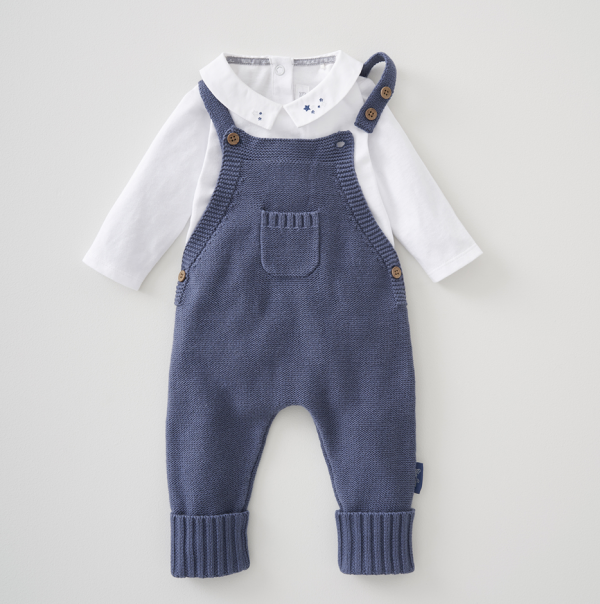 Silver Cross Knitted Dungaree & Bodysuit Set 1