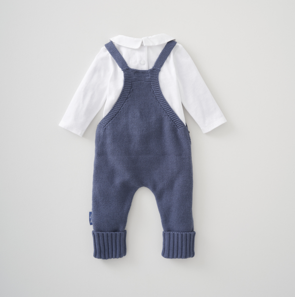 Silver Cross Knitted Dungaree & Bodysuit Set 3