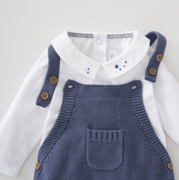 Silver Cross Knitted Dungaree & Bodysuit Set 5