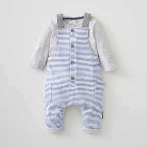 Silver Cross Stripe Dungaree & Bodysuit Set 6