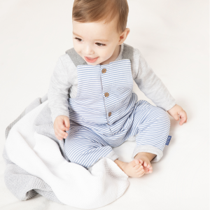 Silver Cross Stripe Dungaree & Bodysuit Set 7