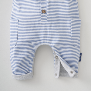 Silver Cross Stripe Dungaree & Bodysuit Set 10