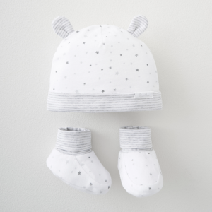 Silver Cross Jersey Hat & Bootee Set 4