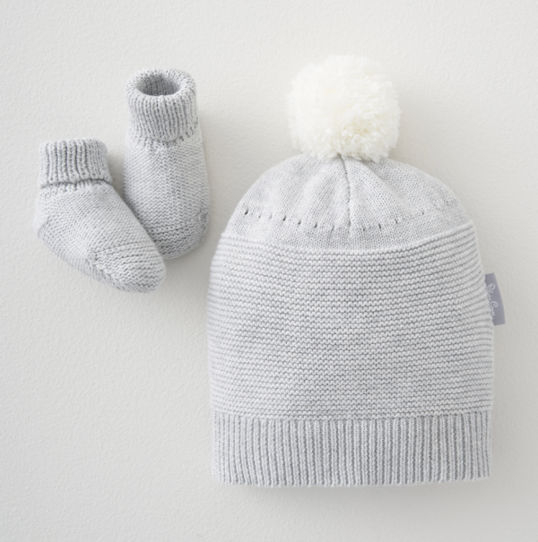 Silver Cross Knitted Hat & Bootee Set 1