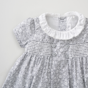 Silver Cross Floral Smock Dress 9