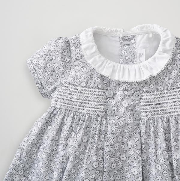 Silver Cross Floral Smock Dress 4