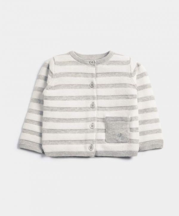Mamas & Papas Striped Knitted Cardigan 1