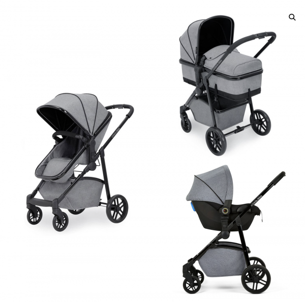 ickle bubba moon travel system grey