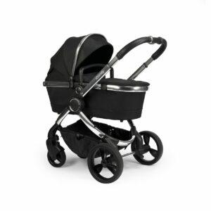 iCandy Peach Pushchair & Carrycot - Chrome Black Twill 14