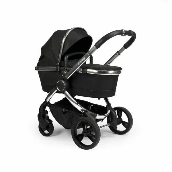 iCandy Peach Pushchair & Carrycot - Chrome Black Twill 7