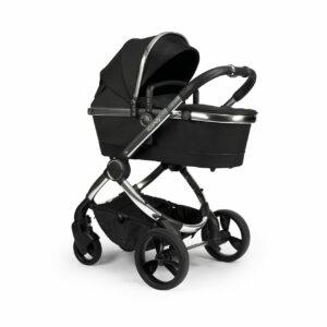 iCandy Peach Pushchair & Carrycot - Chrome Black Twill 9