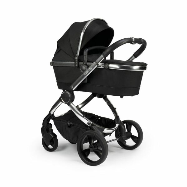 iCandy Peach Pushchair & Carrycot - Chrome Black Twill 2