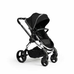 iCandy Peach Pushchair & Carrycot - Chrome Black Twill 12