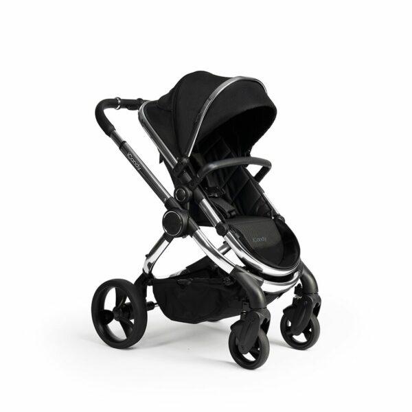 iCandy Peach Pushchair & Carrycot - Chrome Black Twill 5