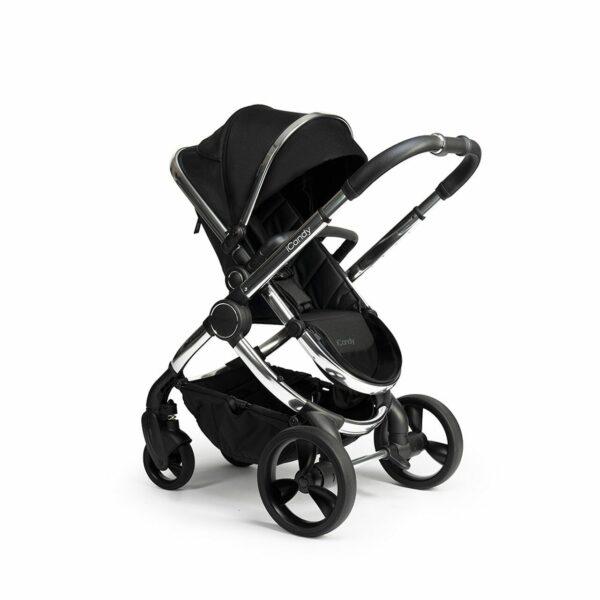 iCandy Peach Pushchair & Carrycot - Chrome Black Twill 4